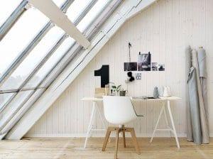 mein wohnzimmer rustikal mit dachschräge holz und weiße wände aus holz