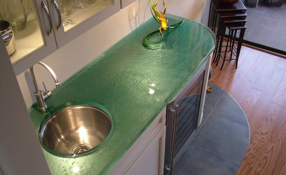 Moderne Kuchenarbeitsplatten Aus Glas Freshouse