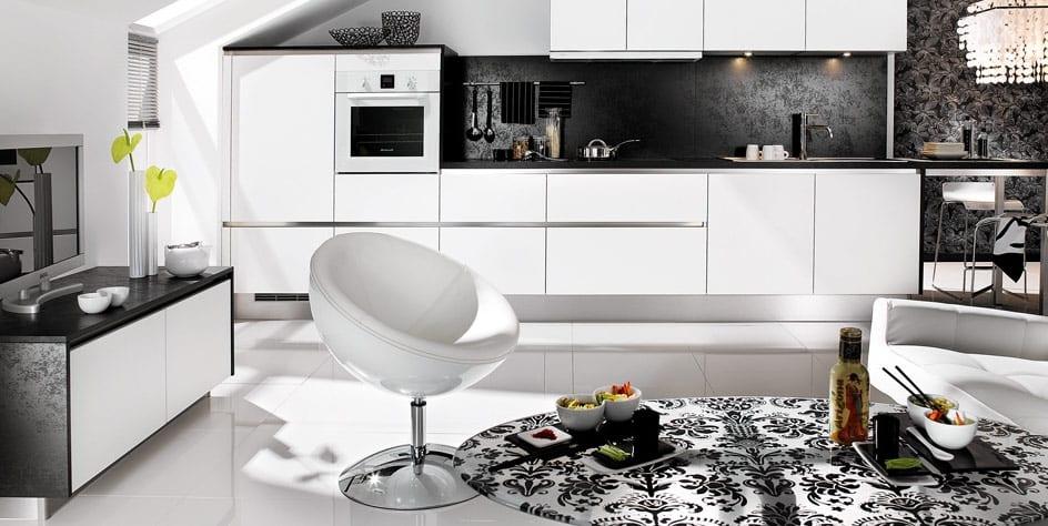 Moderne Wohn Esszimmer Schwarz Weiss Freshouse