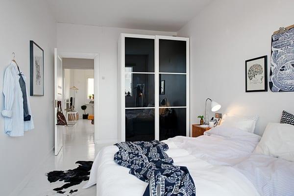 Modernes Appartement Mit Schlafzimmer Schwarz Weiß