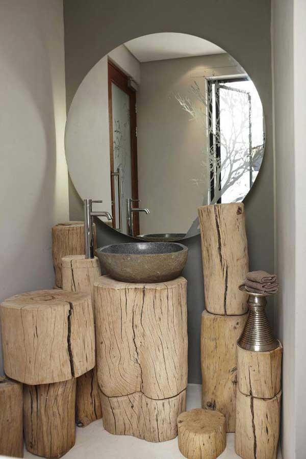Modernes Badezimmer Gestalten Mit Holz-Basteln Mit