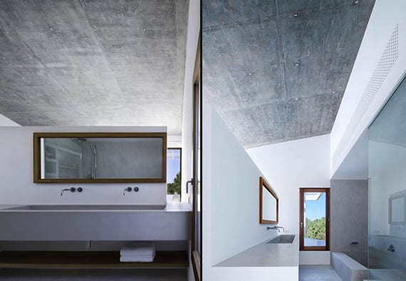 Modernes Badezimmer Mit Dachschrage Aus Beton Can Manuel D En Corda