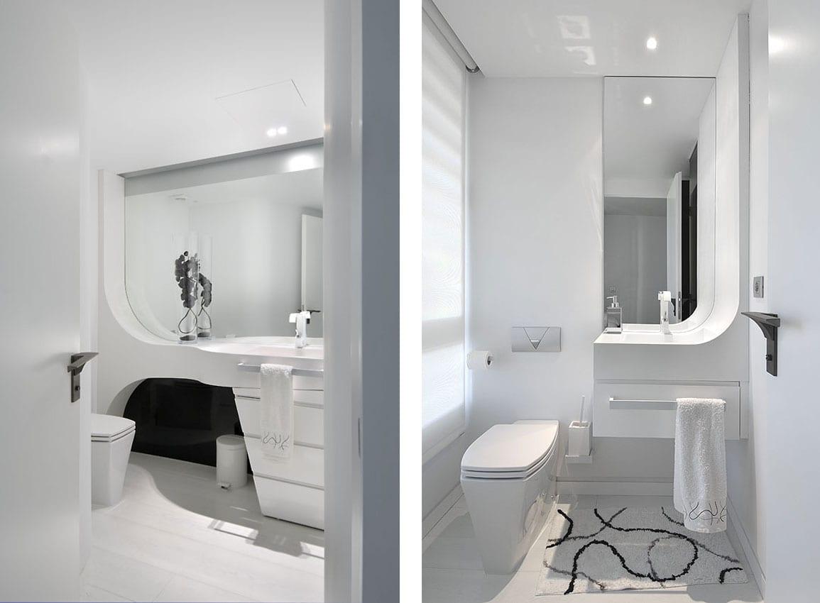 modernes badezimmer wei schicke maisonette wohnung
