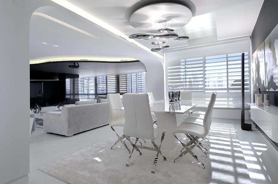 Modernes Esszimmer Weiß Maisonette Einrichtungsideen