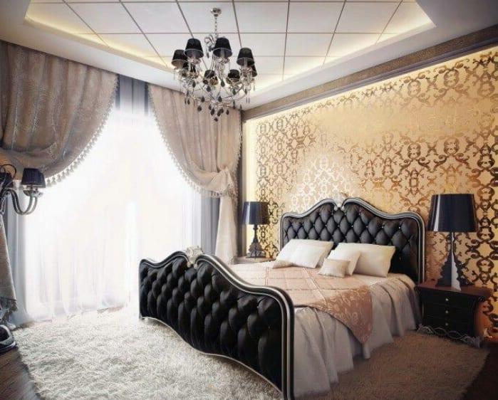 Schon Modernes Schlafzimmer Inspiration Im Barock Zimmergestaltung In Schwarz Und  Gold