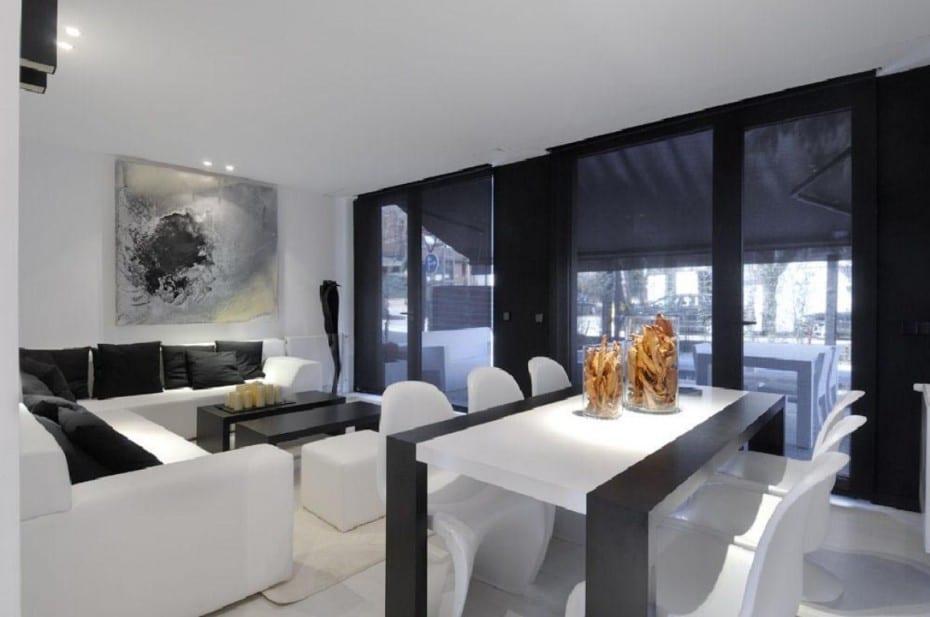 Modernes Wohn Esszimmer Interior