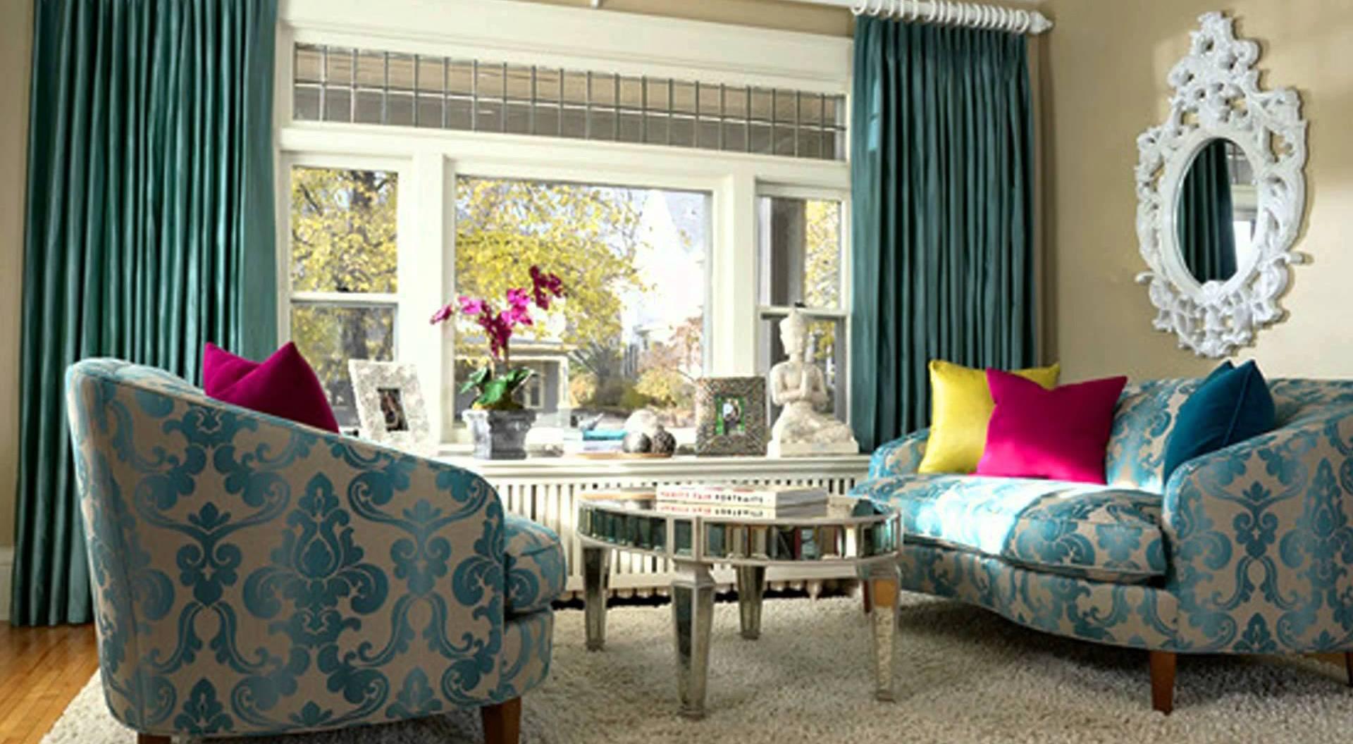 Modernes wohnzimmer blau im barock stil zimmergestaltung in blau freshouse - Barock wohnzimmer modern ...