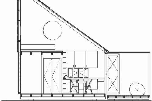 modulares haus pod idladla schnitt freshouse. Black Bedroom Furniture Sets. Home Design Ideas