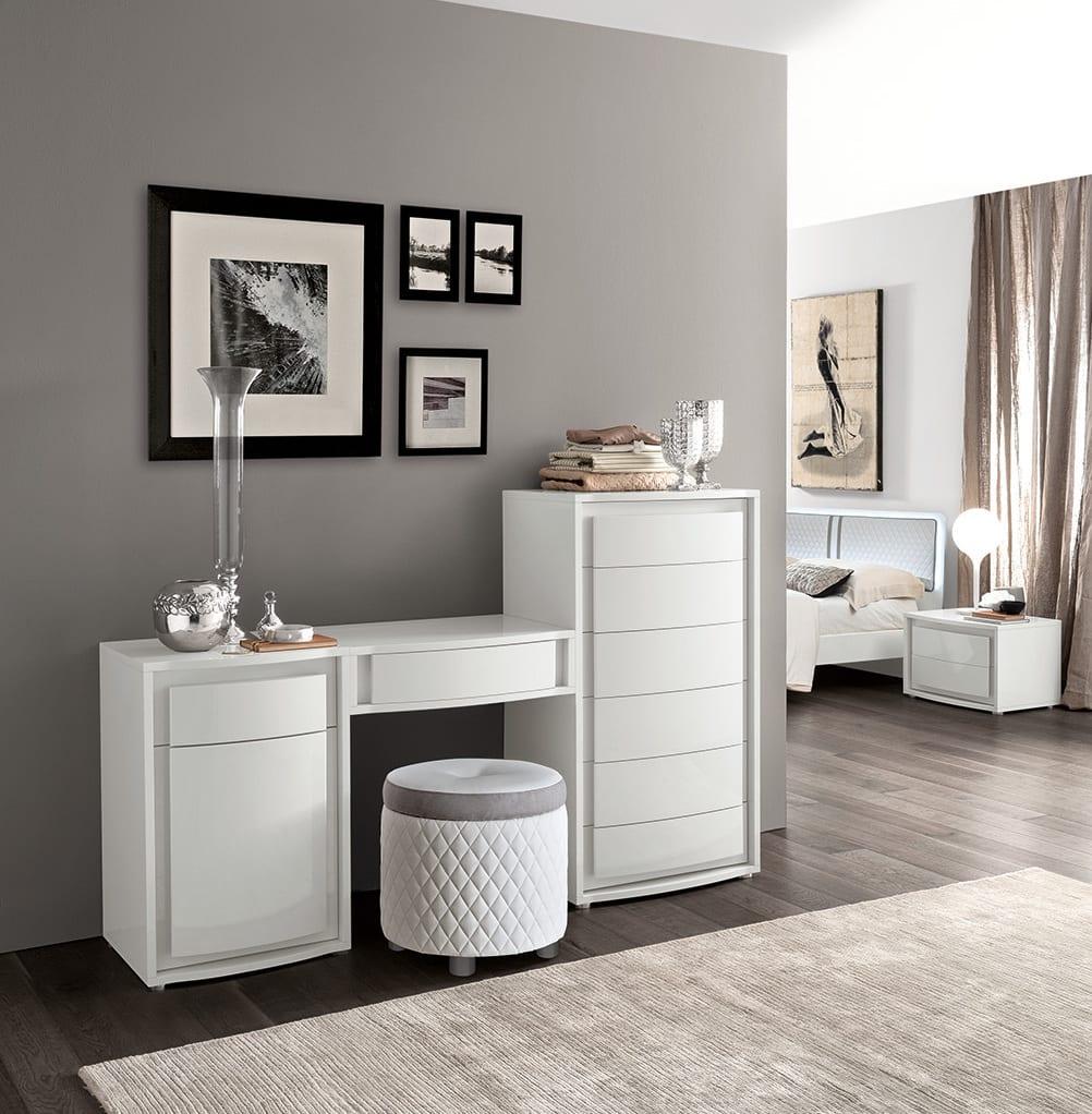 Hochwertig Muxus Schlafzimmer Grau Modernes Möbel Set Weiß