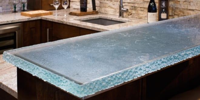 Oberflache Aus Dickem Glas Fur Moderne Kuchenarbeitsplatten Und Bars