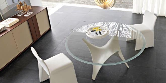 runder tisch ideen für modernes wohnzimmer mit couchtisch glas ...