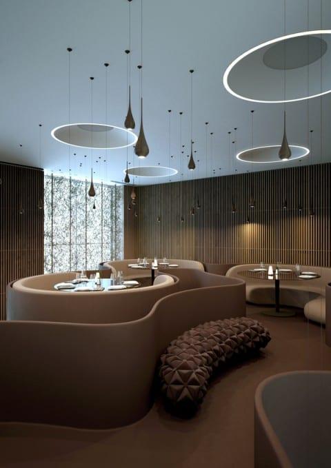 Schicke raumgestaltung mit freifliesenden formen runde for Raumgestaltung 2015