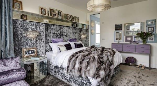 Luxus schlafzimmer lila  schlafzimmer inspiration für luxus schlafzimmer lila aus samt ...