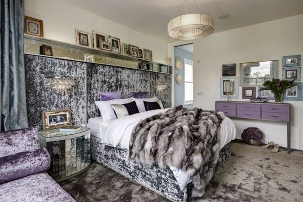 Schlafzimmer Inspiration Für Luxus Schlafzimmer Lila Aus Samt