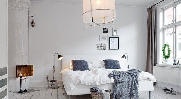 Schlafzimmer Inspiration In Weiß Mit Rundkamin Weiß Und
