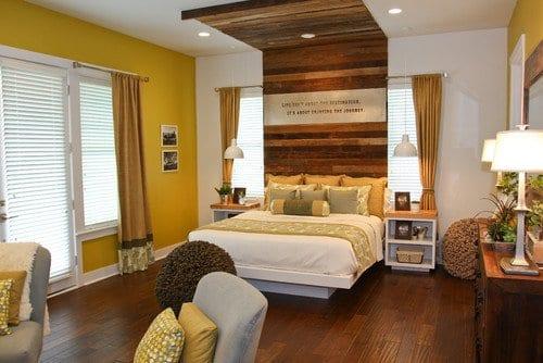 Schlafzimmer Inspiration Mit Wandfarbe Gelb Und Schlafzimmer