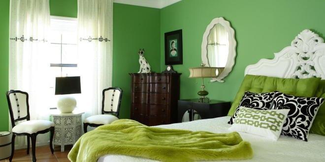 AuBergewohnlich Schlafzimmer Inspiration Mit Wandfarbe Grün Im Barock
