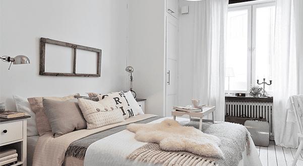 Schlafzimmer Ispiration Mit Holzboden Weiß Und Rosafarbige Bettwäsche