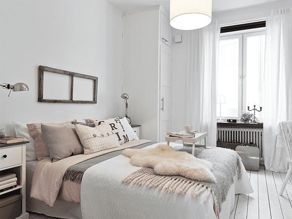 Schlafzimmer Ispiration Mit Holzboden Weiss Und Rosafarbige