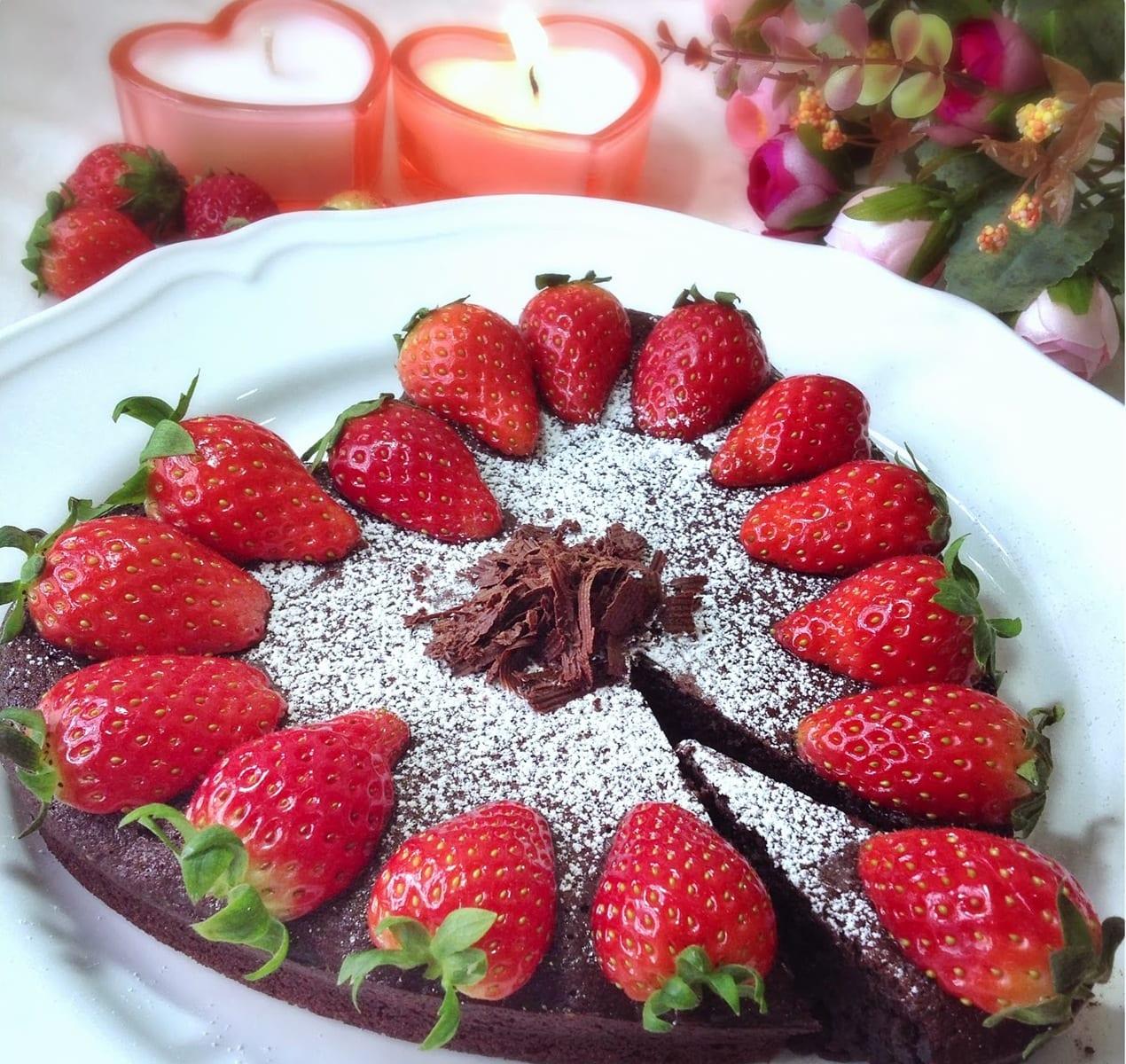 Schokolade Valentinstag Kuchen