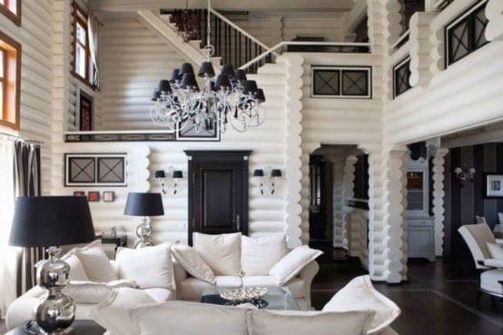 schwarz-weiße raumgestaltung wohnzimmer - fresHouse