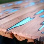 couchtisch aus holz selber bauen-DIY holztisch glühend