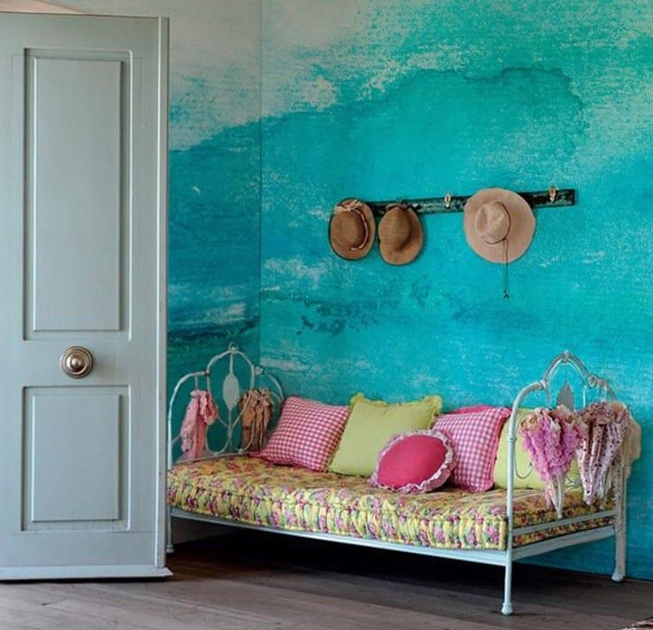 Streichen Mit Blau-wände Streichen Ideen Mit Wandfarbe