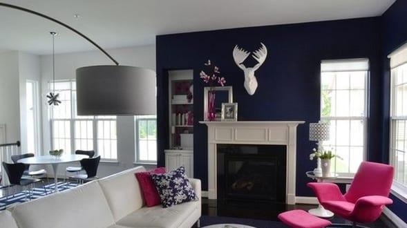 streichen mit wandfarbe blau-luxus wohnzimmer inspirationen ...
