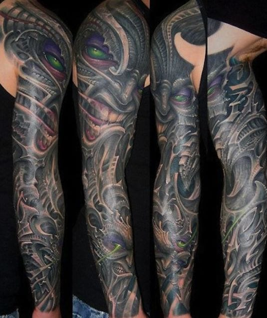 tattoo biomechanik arm alien freshouse. Black Bedroom Furniture Sets. Home Design Ideas