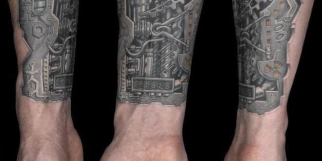 tattoo biomechanik unterarm freshouse. Black Bedroom Furniture Sets. Home Design Ideas