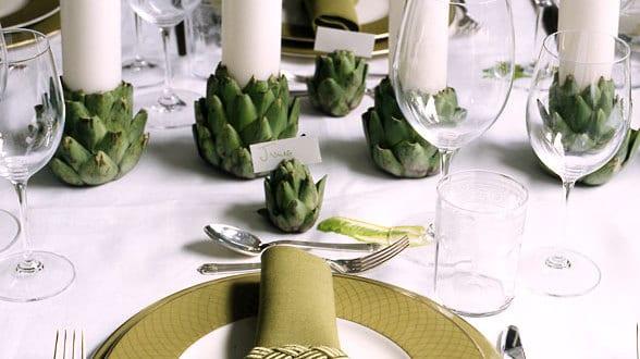 Tisch Eindecken Idee Mit Artischocken Freshouse