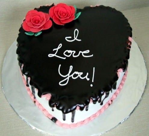 Valentinstag Kuchen Mit Schoko Glasur