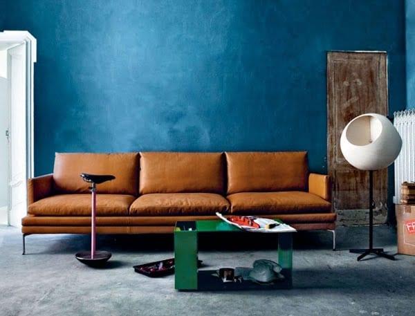 Wand Streichen-Wohnzimmer Inspirationen Mit Wandfarbe Blau - Freshouse