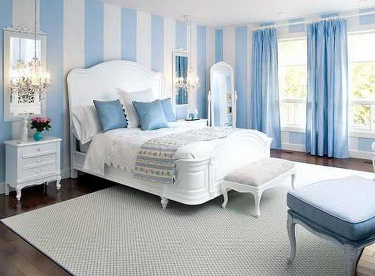 Wand Streifen Muster-Wandfarbe Blau - Freshouse