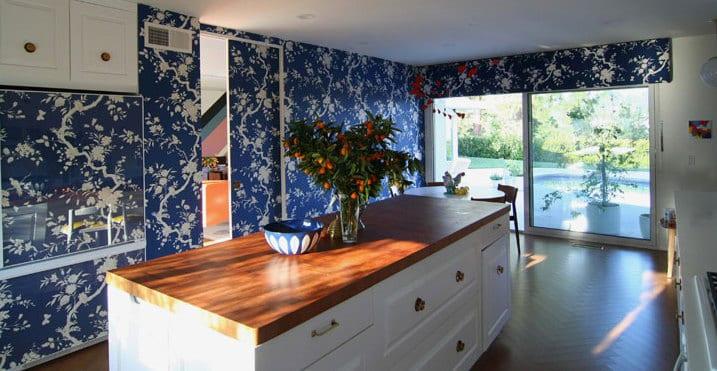 Wandfarbe Blau Wandfarbe Küche