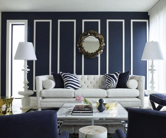 Wihnzimmer Streichen Mit Wandfarbe Blau-wohnzimmer