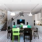 modernes wohnzimmer inspirationen für zweiraumwohnung