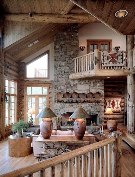Wohnzimmer beispiele f r modernes wohnzimmer mit rustikalem kaminofen und sideboard rustikal - Innengestaltung wohnzimmer ...