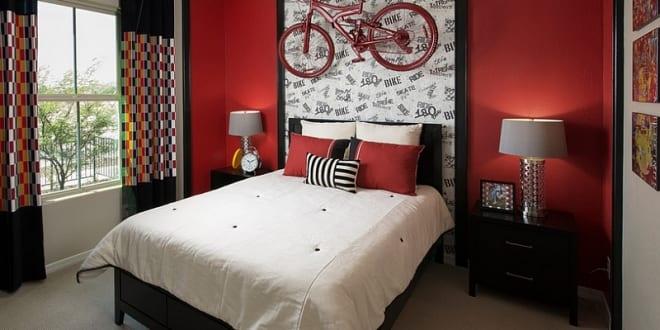 wohnzimmer inspiration für schlafzimmer rot mit kreative ...