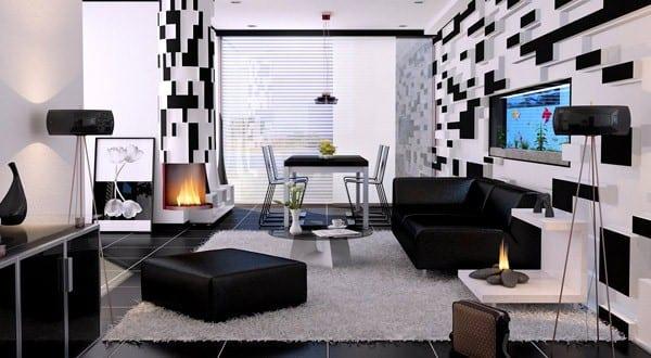 21 fantastische Gestaltungsideen für schwarz-weiße Wohnzimmer
