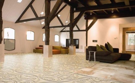 Wohnzimmer Inspirationen Mit Elastischem Bodenbelag Und 3D Optik