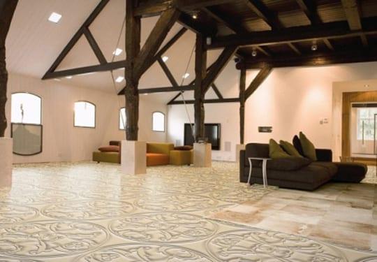 wohnzimmer inspirationen mit elastischem bodenbelag und 3d. Black Bedroom Furniture Sets. Home Design Ideas
