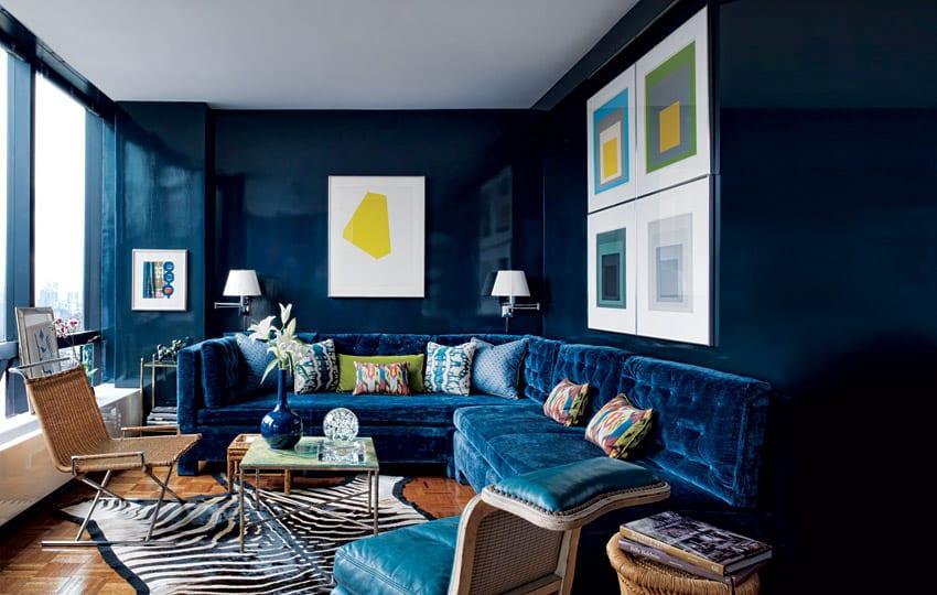 Wandfarbe Blau wohnzimmer streichen richtig streichen mit wandfarbe blau todd