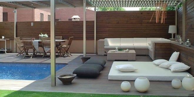 Terrassen Pool wpc terrassen mit pool und beschatung terrasse mit holüberdachung