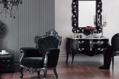 zimmergestaltung im barock schwarze barock m bel freshouse. Black Bedroom Furniture Sets. Home Design Ideas