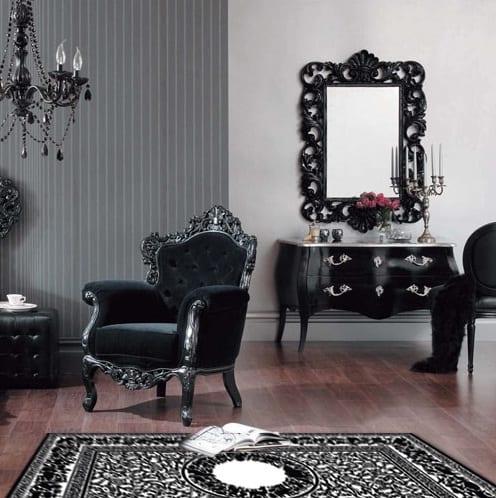 zimmergestaltung im barock-schwarze barock möbel - fresHouse