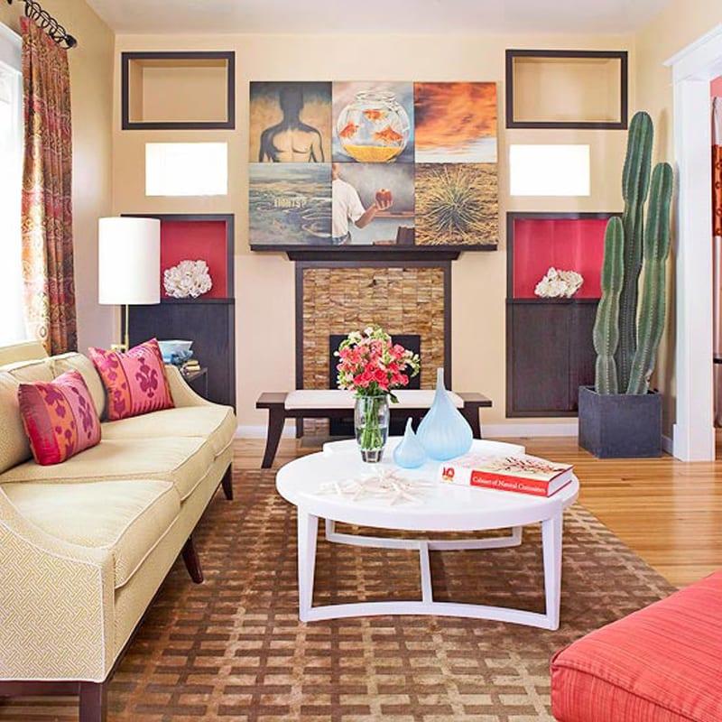 zimmergestaltung und wandgestaltung für modernes wohnzimmer ...