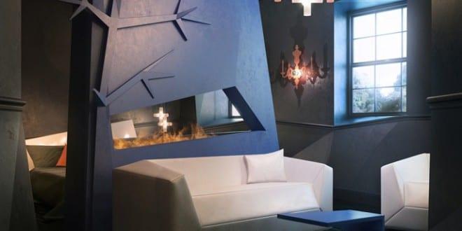 zwei raum wohnungen wohnzimmer inspirationen mit wandfarbe blau und moderne seats and sofas wei. Black Bedroom Furniture Sets. Home Design Ideas
