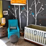 coole idee für gestaltung babyzimmer in grellen farben