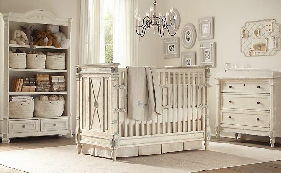babyzimmer landhaus komplett weiß - fresHouse